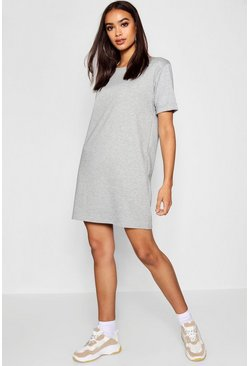 Grey marl Roll Back Ponte Shift Dress