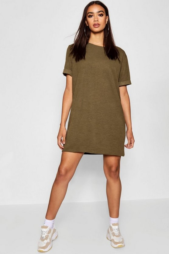 Roll Back Ponte Shift Dress