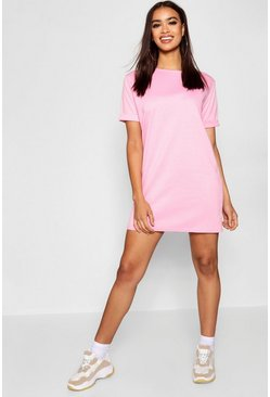 Powder pink Roll Back Ponte Shift Dress