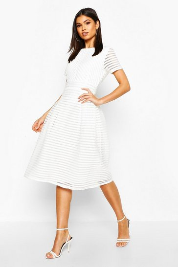 Ivory Boutique Full Skirted Prom Midi Dress
