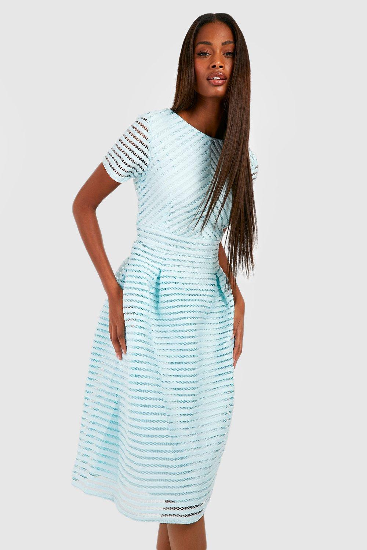 Boohoo Womens Zaira Boutique Full Skirted Prom Midi Dress | eBay