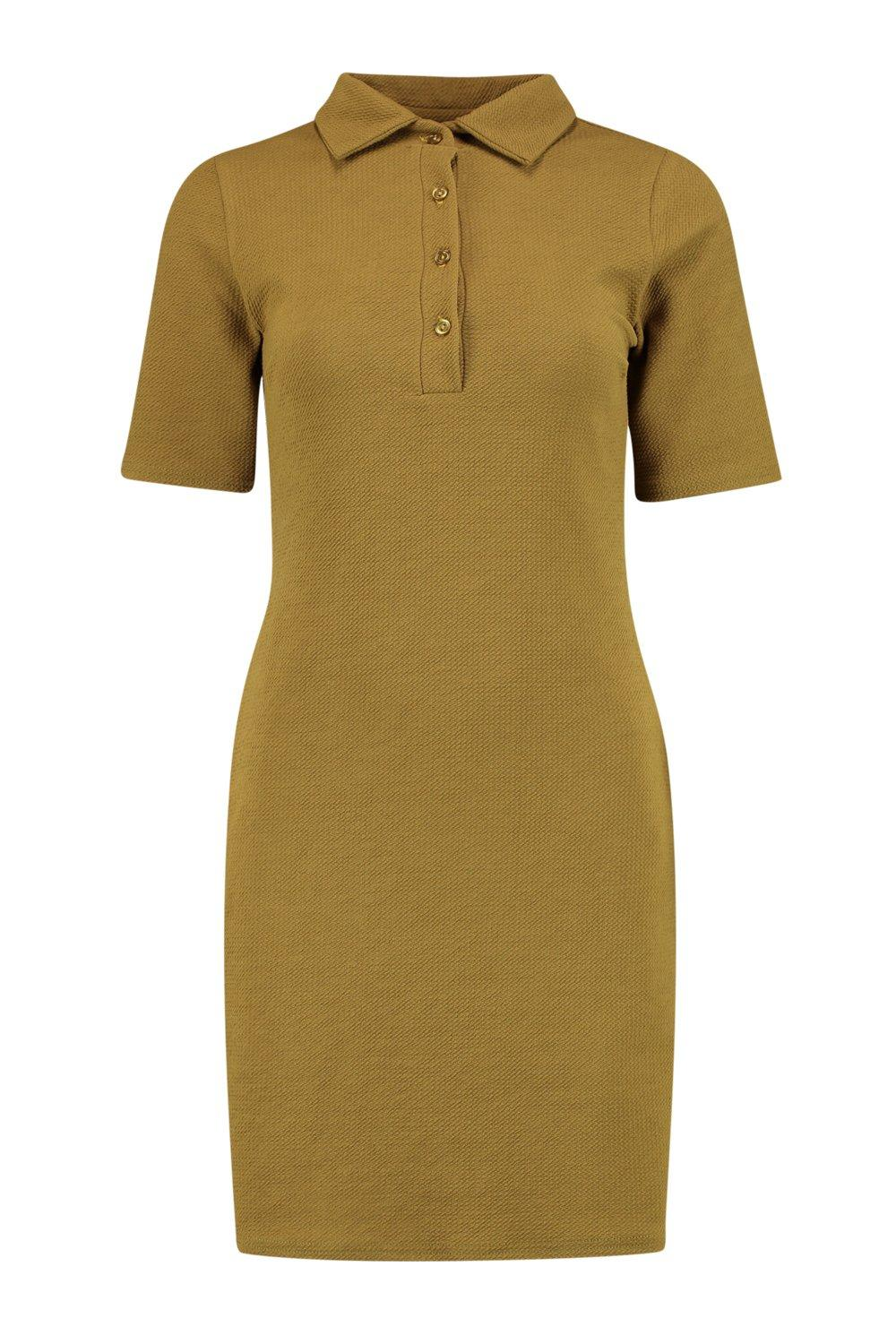 Boohoo Womens Carinna Polo Shirt Dress | eBay