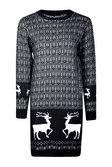 8b1ec592c6283 ... emma robe pull de noël rennes, Noir, Femme autre image ...