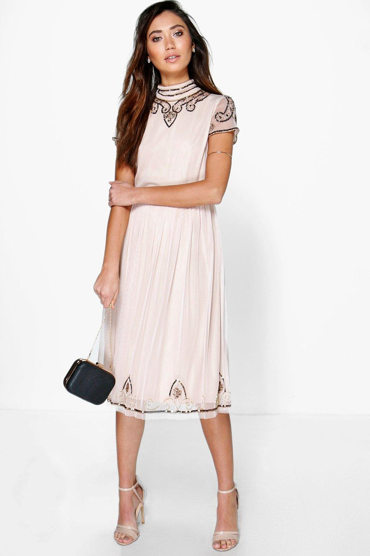 5500598bc5ec Boutique High Neck Midi Dress | Boohoo
