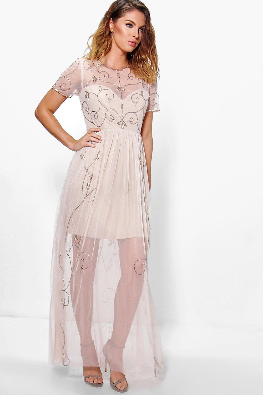 Corine Boutique Embellished Maxi Dress   Boohoo