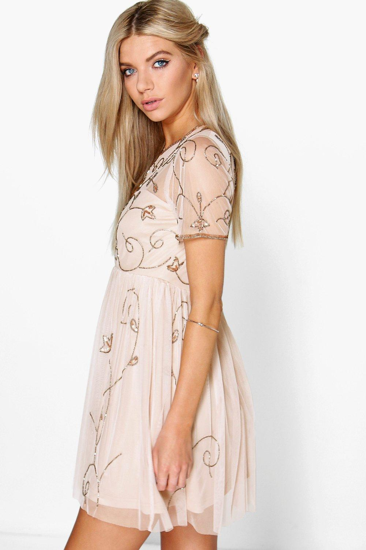 62ce08e2a0 Boutique Embellished Skater Dress | Boohoo