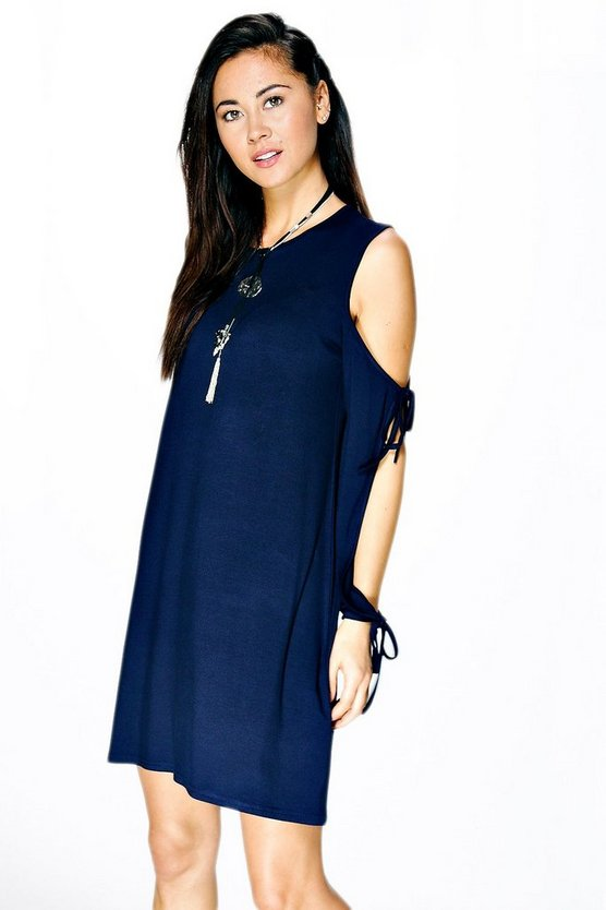 Isla Looped Sleeve Mini Shift Dress