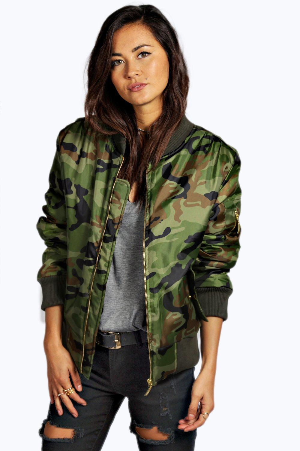 e8c3991494d7a Womens Multi Mya Camo MA1 Bomber Jacket. Hover to zoom