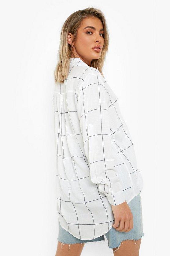 Large Grid Oversized Shirt