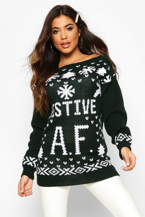 Festive A.F. Christmas Jumper