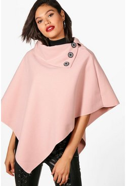Womens Nude Cape With Buttons