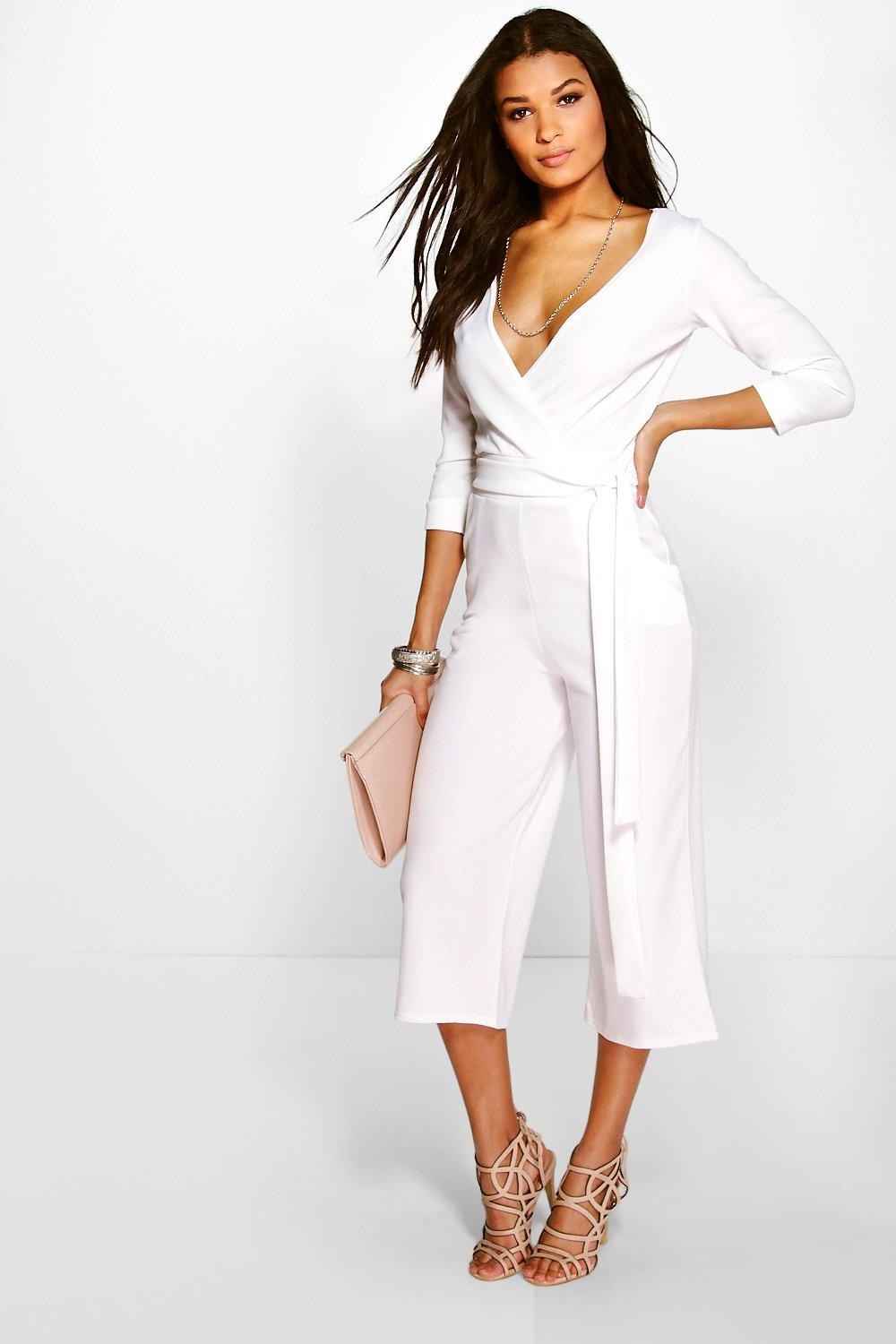 7dc42573800 Roll Sleeve Relaxed Culotte Jumpsuit. Hover to zoom