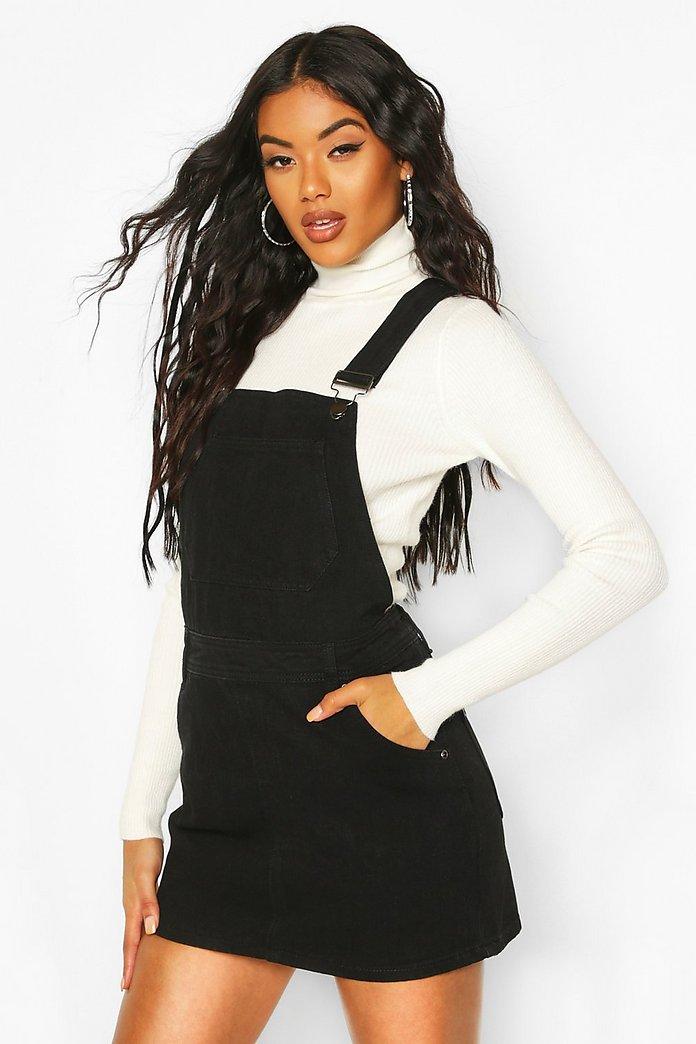 d691b9d4a88 Denim Overall Pinafore Dress