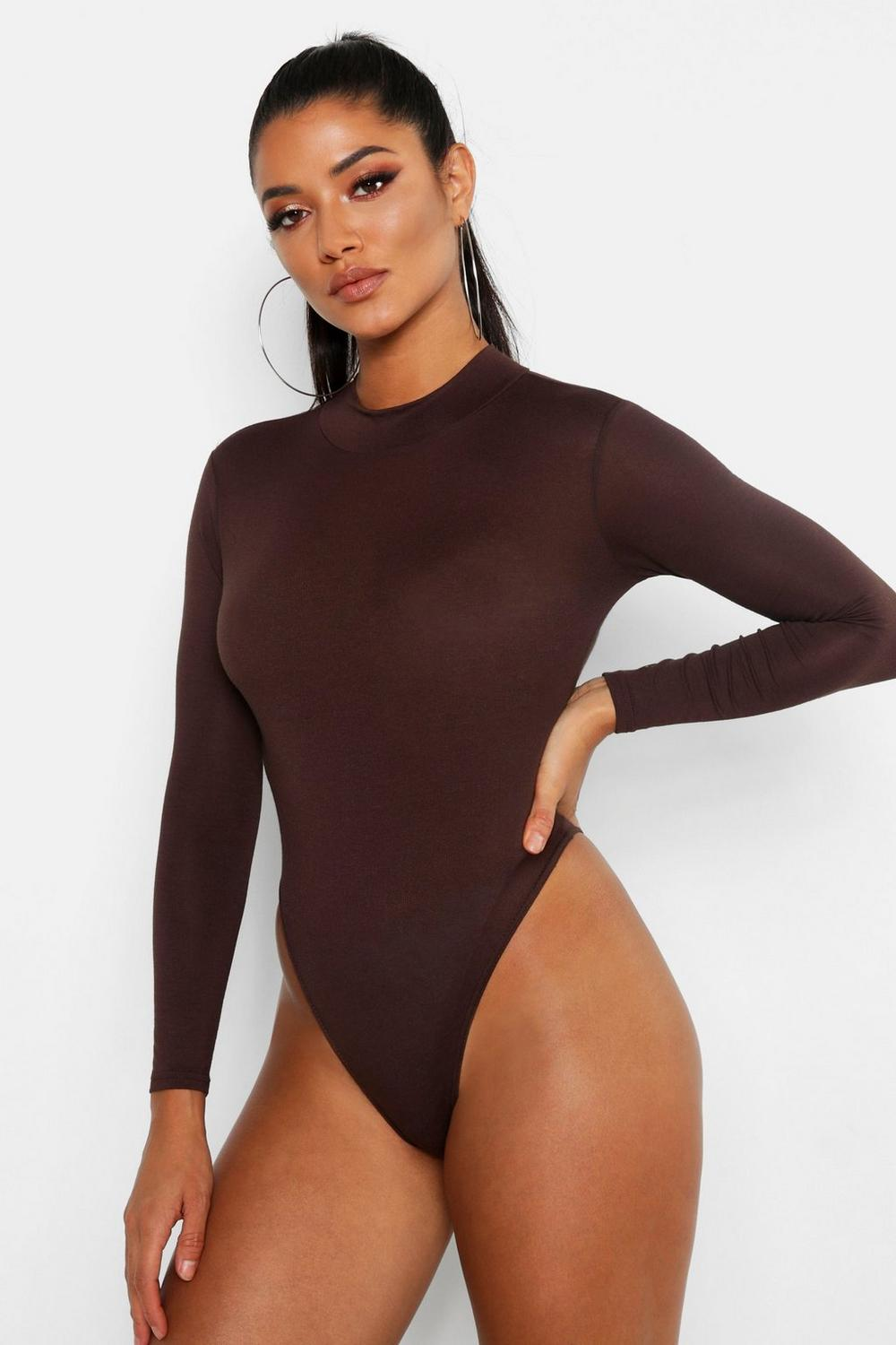 e4cf660dc2 Basic Turtle Neck Long Sleeve bodysuit. Hover to zoom