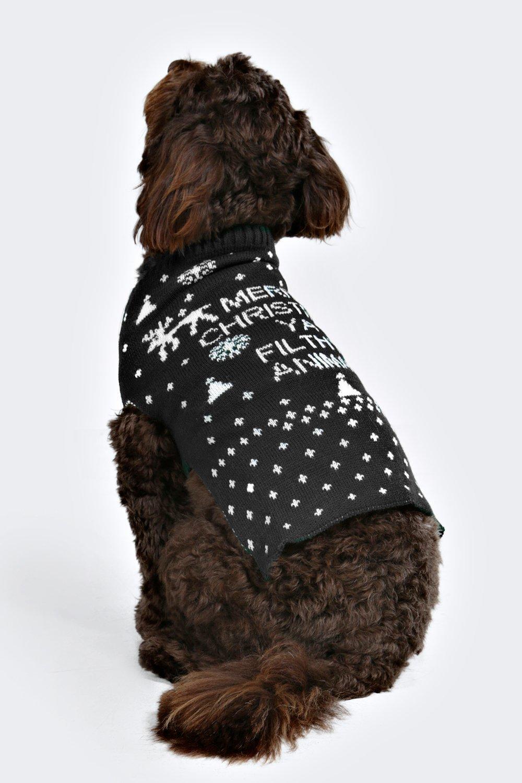Merry Xmas Ya Filthy Animal Dog Jumper Boohoo
