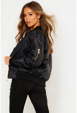 Womens Black MA1 Bomber Jacket
