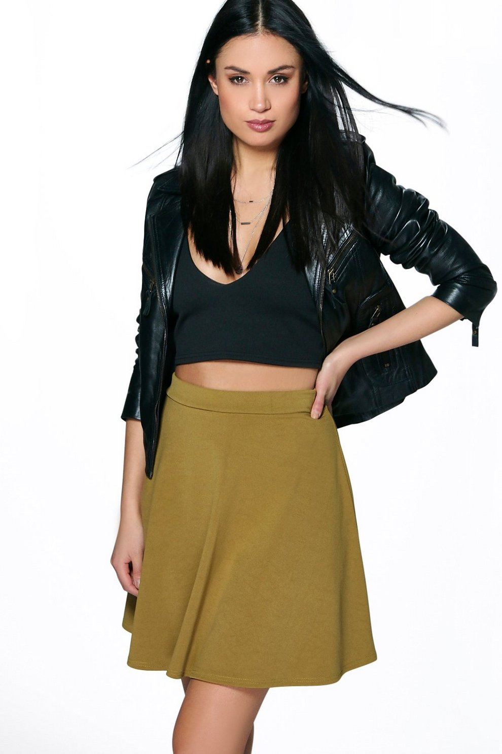 4f4264fc4dcae Roseanna Fit and Flare Skater Skirt   Boohoo