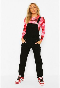Black Dungarees i denim