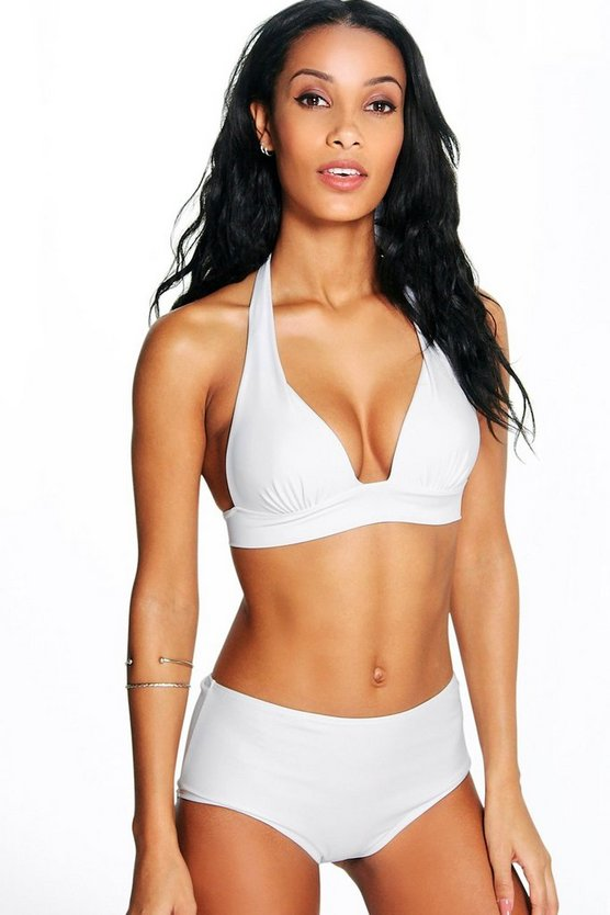 Womens White Bahamas Mix and Match Moulded Bikini Top