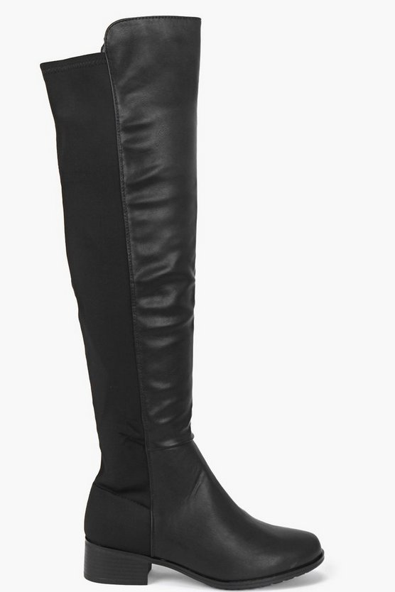 Elastic Back Over The Knee Boots