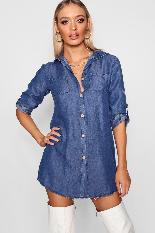 2c68e437dd4 Denim Shirt Dress. Hover to zoom