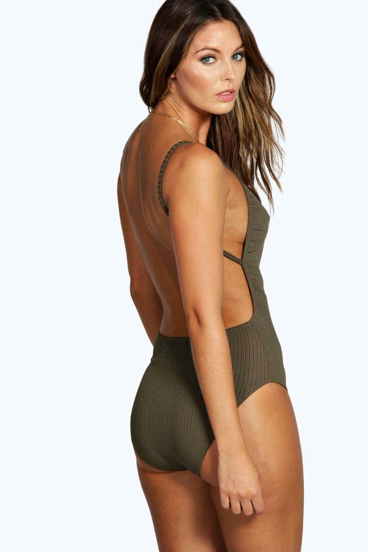 Boohoo-Leah-Marl-a-coste-con-body-a-schiena-nuda-per