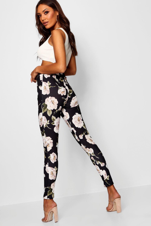 grandes de Pantalones skinny flores Multicolor wfK6Z7tXaq