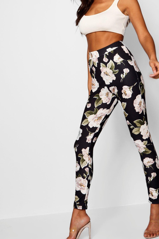 Multicolor Pantalones grandes de skinny flores XFwwfqRO