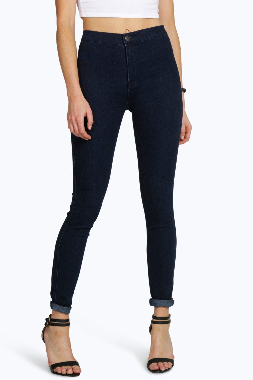 de72e2aaeb1c7 Lara jean tube super skinny indigo taille haute. Hover to zoom