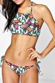 593dcd9068 ... Womens Multi Indonesia Printed Halter Neck Crop Bikini alternative image