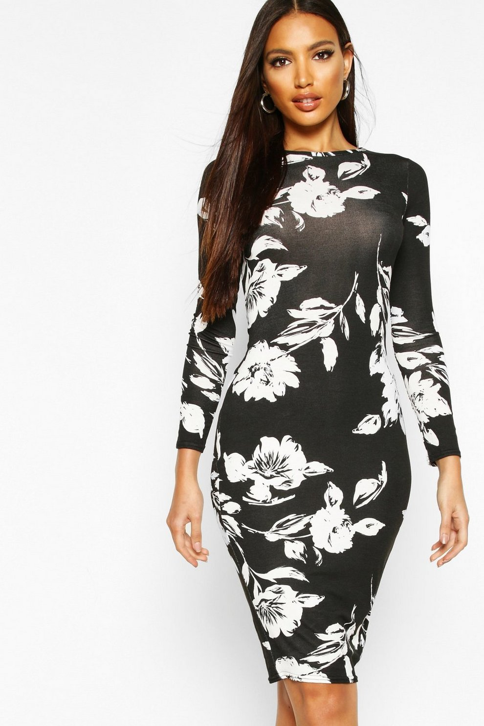 dddec49015 Womens Multi Long Sleeve Midi Bodycon Dress. Hover to zoom