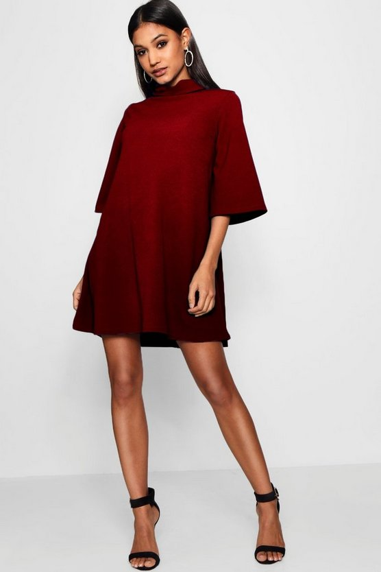 Turn Back Collar Shift Dress