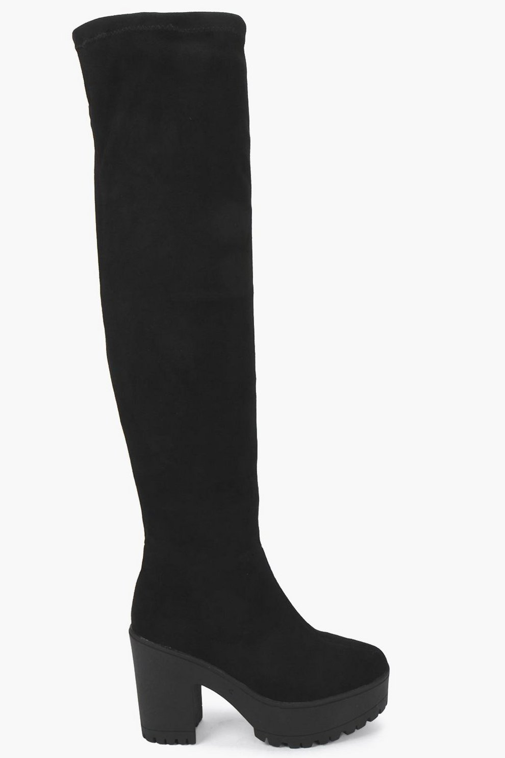 99a93ce18c87 Cleated Over The Knee Boots