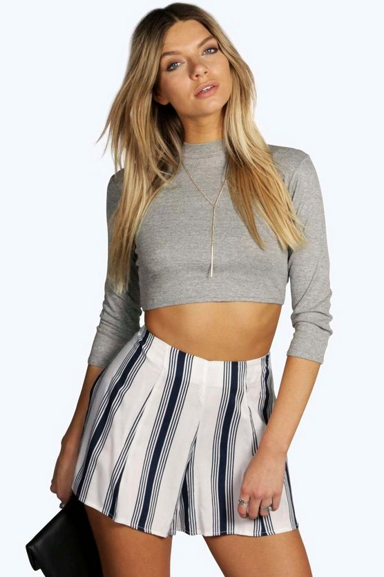 Sophie Striped Woven Shorts