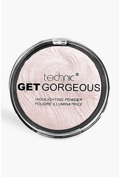 Womens Pink Technic Get Gorgeous Highlighting Powder