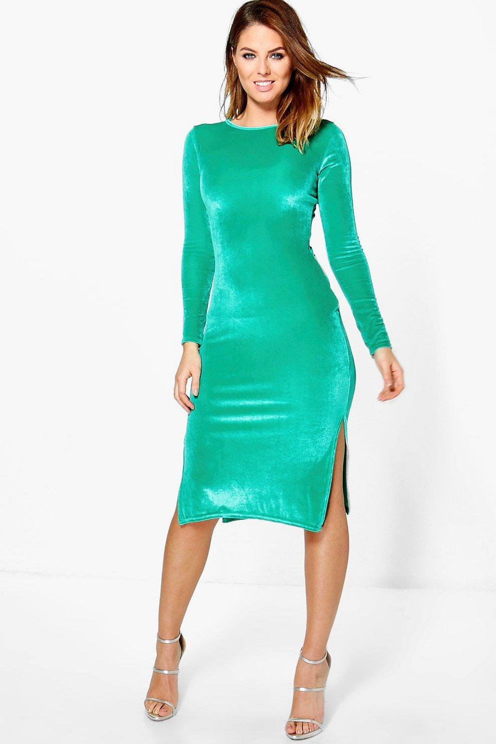 Beatrice Velvet Midi Bodycon Dress  081c55b9f