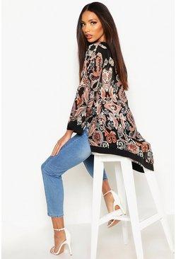 kimono kimono femme veste kimono en ligne boohoo. Black Bedroom Furniture Sets. Home Design Ideas