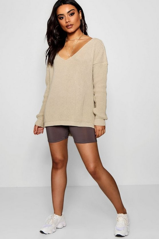 Oversized V Neck Jumper