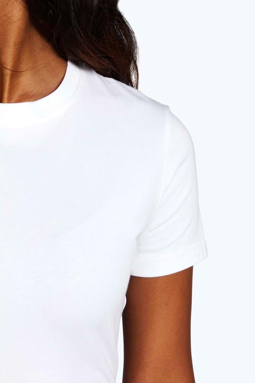 con cuello redondo básica Camiseta negro n8xYqz11