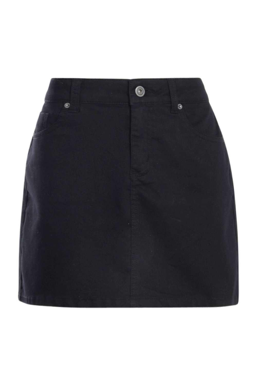 de estilo Minifalda de negro Denim Western q8wEt