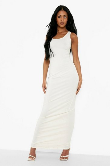 Ivory Tall Basic Maxi Dress