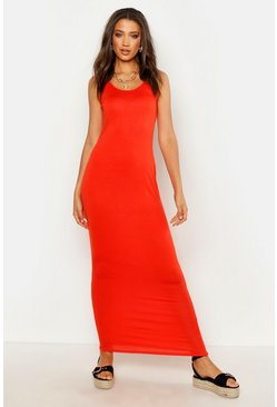 Orange Tall Basic Maxi Dress