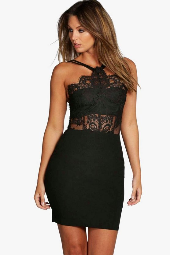 Boutique  Eyelash Bodycon Dress