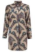 0d3bf783979 ... Womens Stone Larissa Paisley Print Shirt Dress alternative image ...