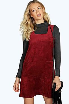 60s Skirts | 70s Hippie Skirts, Jumper Dresses Cord Pinafore Zip Dress $38.00 AT vintagedancer.com