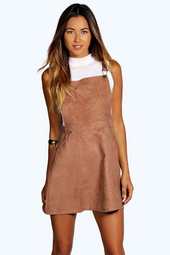 Suedette Pinafore Dress