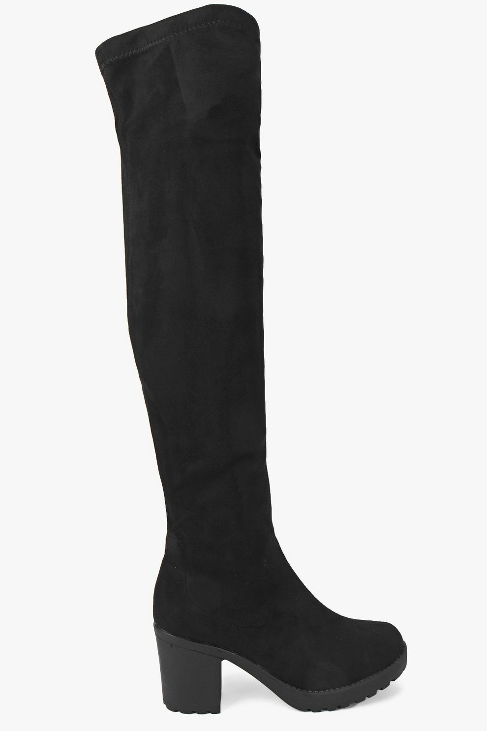8c320ebe545b Stretch Over Knee Cleated Boots