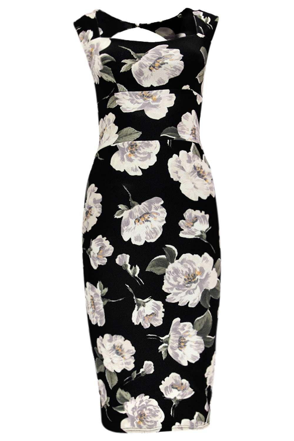 b20b6f9143e Floral Sweetheart Midi Dress