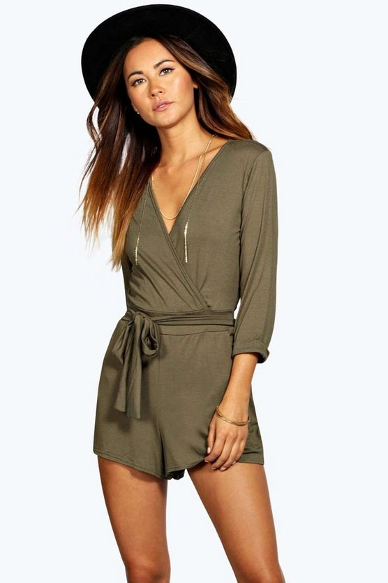 Sophia Self Belt Relaxed Fit Playsuit
