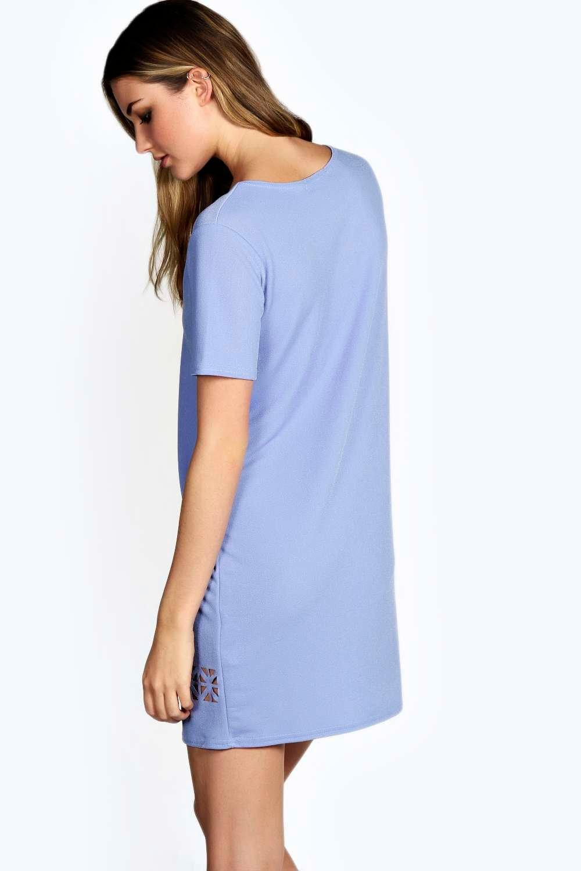 a3738f8c556d Boohoo-Womens-Dalia-Laser-Cut-Shift-Dress thumbnail 18